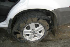blown-tyre